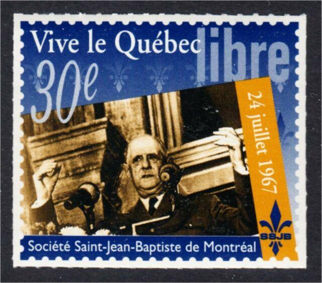Societe Saint Jean Baptiste 1997 Vive le Quebec Libre Charles De Gaulle SSJB