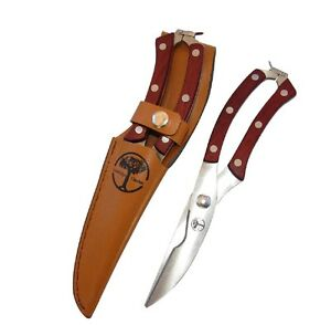 Hand Pruners Garden Shears w Leather Sheath Scrapbooking Great Gift