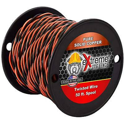 Professional Grade Super Duty Solid Core Electric Dog Fence Wire Compatible with All Wired Electric Pet Fence Systems 1000 Feet