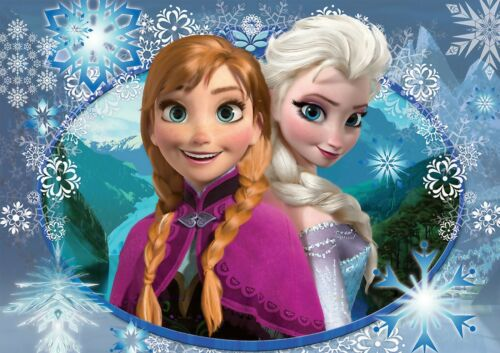 DISNEY FROZEN ELSA AND ANNA WALL ART POSTER A1 - A5 SIZES AVAILABLE