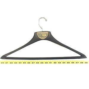 Image Is Loading Black Plastic Jacket Coat Hanger First 18 5