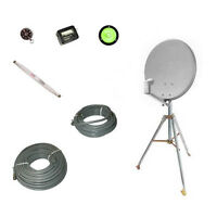 Eagle 18 Satellite Dish Withtripod Mount Kit Rv Portable Mobile Directv Camper