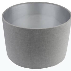 039Lilly039 Grey  Silver Lampshade Drum Lampshade Ceiling Light Shade Table Lamp - Huddersfield, United Kingdom - 039Lilly039 Grey  Silver Lampshade Drum Lampshade Ceiling Light Shade Table Lamp - Huddersfield, United Kingdom