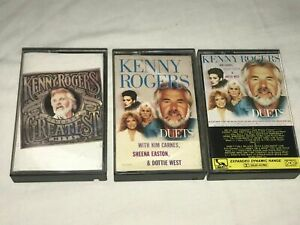 KENNY ROGERS GREATEST HITS, DUETS WITH SHEENA EASTON KIM CARNES CASSETTE TAPES