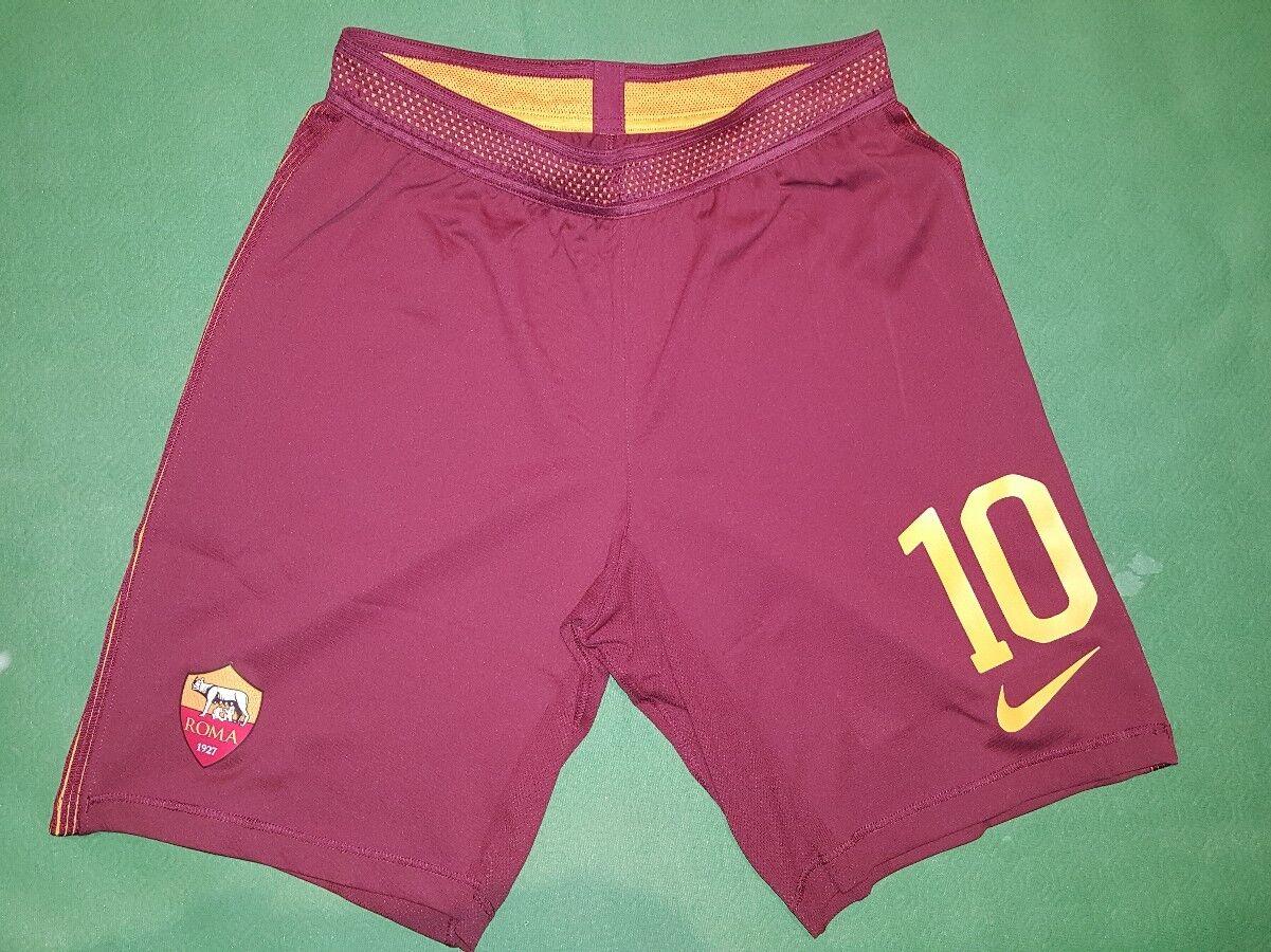 Totti roma player issue shorts 2016 2017 pantaloncini da magazzino Authentic