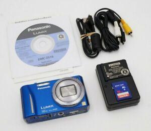Panasonic LUMIX DMC-ZS10 14.1MP Digital Camera Blue | W/ Accessories | Bundle