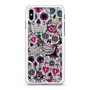 Pattern Filled Colourful Candy Cane Sugar Skulls Pattern Fine Phone Case Cover Ebay