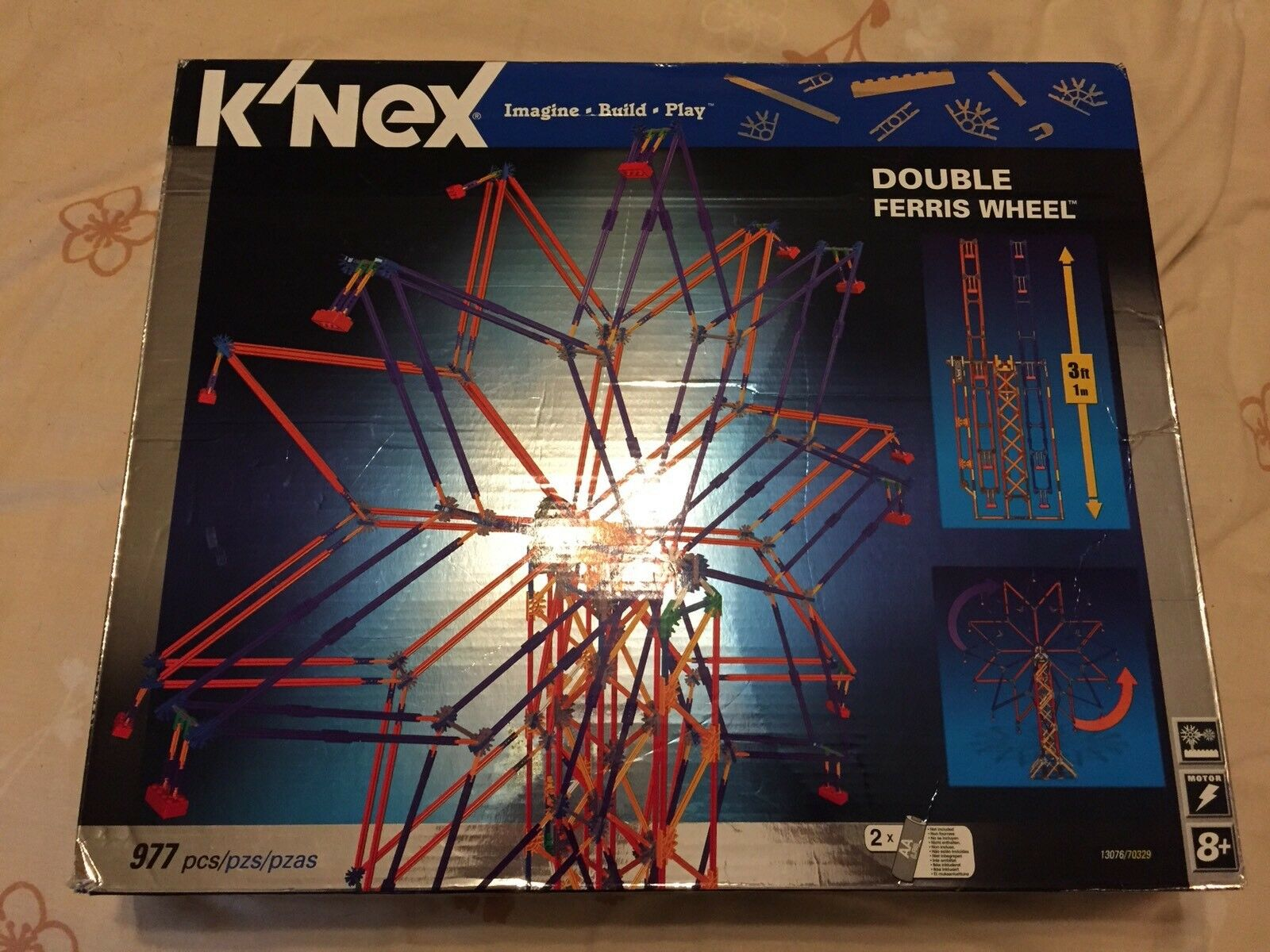 Knex Double Ferris Wheel Building Set 3ft Tall New Boxed