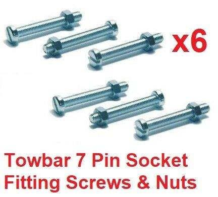13 Pin Socket Mount Fixing Screws//Bolts /& Nuts Trailer Tow bar M5 Towbar 7