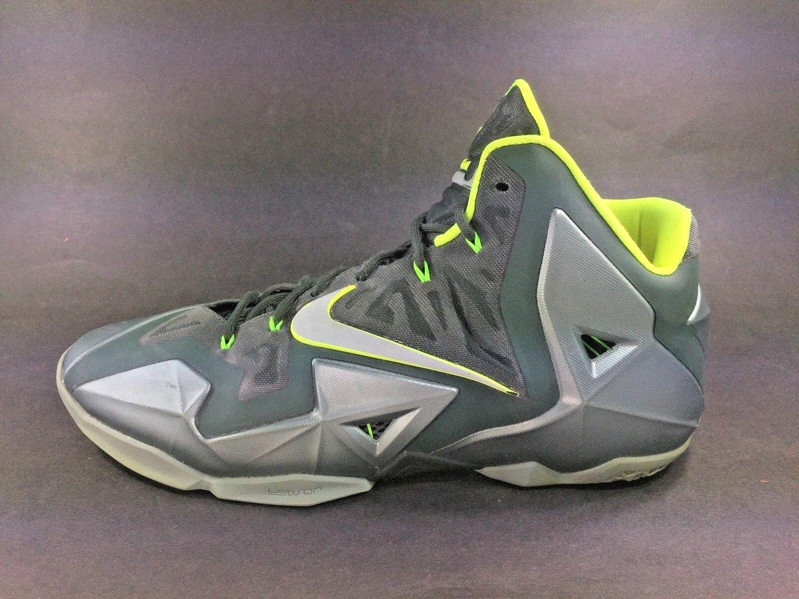 Nike? ~ LeBron XI DUNKMAN Basketball Shoes ~ Green Green Green Volt ~ 616175-300 ~ Uomo Sz 14 1ccf8c