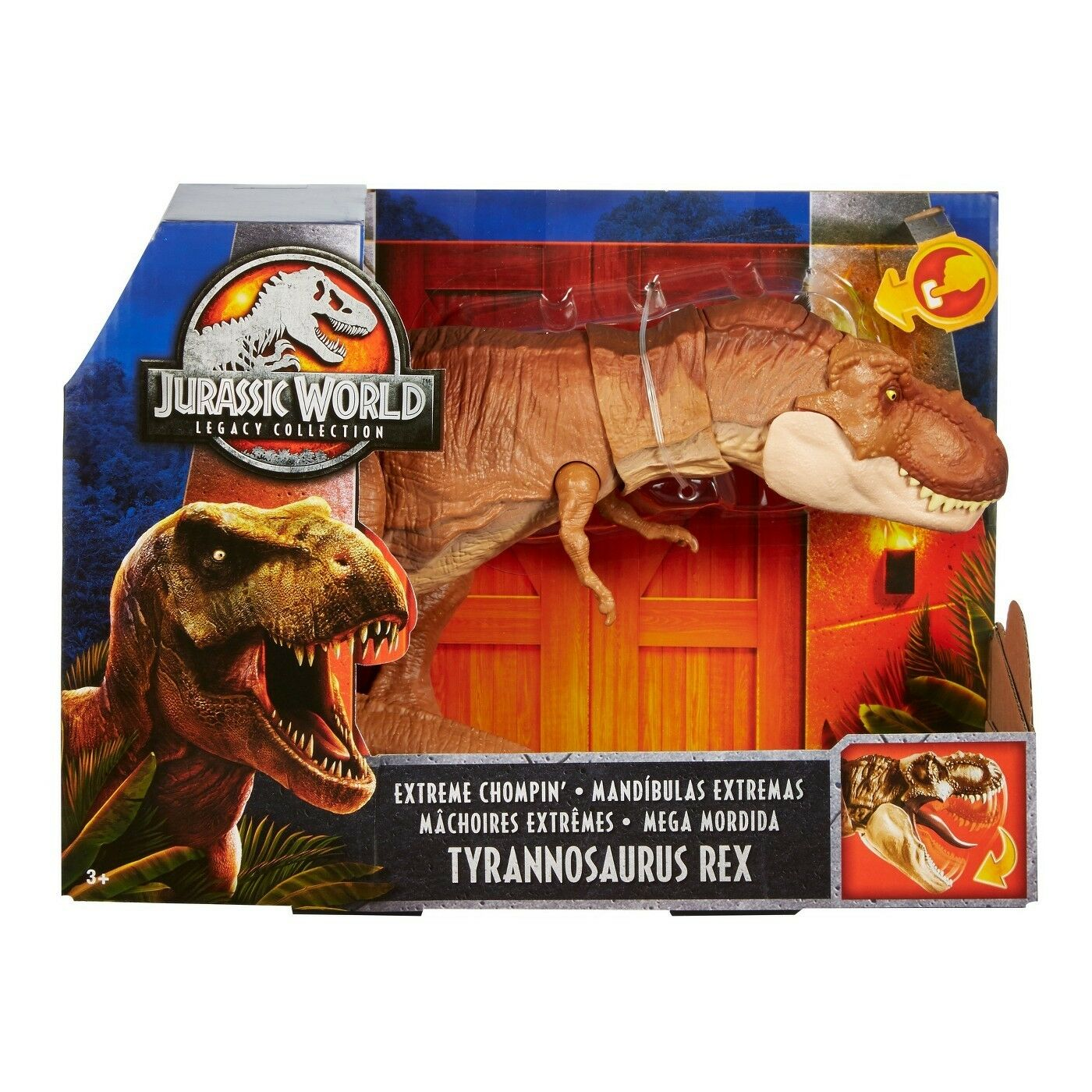Jurassic World Legacy collezione Extreme Chompin' Tyrannosaurus Rex nuovo