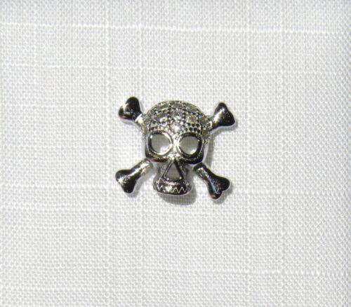 Single pendientes pendientes calavera con circonita 925 plata individualmente