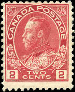 1917-22-Canada-Mint-H-2c-F-Scott-106-KGV-Admiral-Issue-Stamp