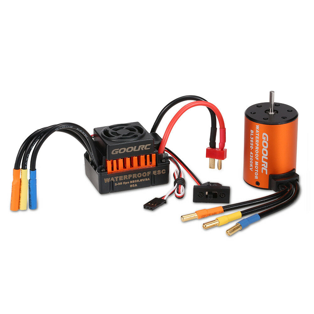 Motor RC Car 60A Brushless ESC And Waterproof 3650 4300KV Motor Racing Combo Set