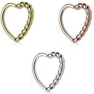 55f3b5f5e Image is loading BRAIDED-TWISTED-HEART-SHAPED-DAITH-CARTILAGE-PIERCING-RING-