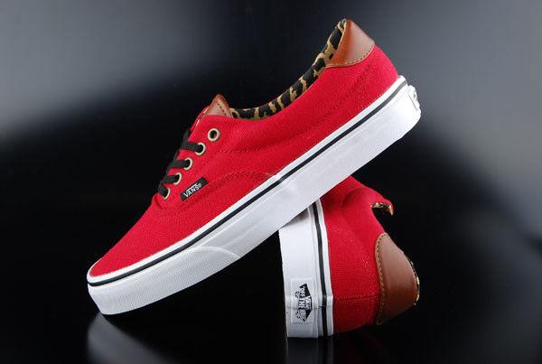 Vans Sneaker era 59 Rosso/LEOPARD