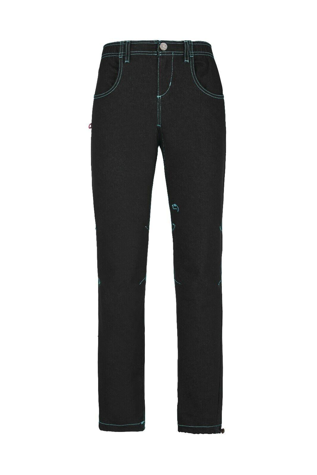E9 Ili Donne Pantaloni per Arrampicata Boulderhose per Donna Jeans Denim Nero