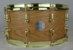 Click-7x14-Red-Oak-Snare-Drum-W-Brass-Hardware-Natural-Satin-Oil-Finish