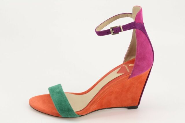 $350 NEW Brian Atwood Roberta Suede Wedge Sandals size 7 High Heels 25000939