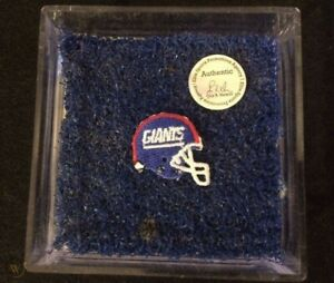 New-York-Giants-Game-Used-Endzone-Turf-The-Meadowlands-Tiki-Barber-NFL