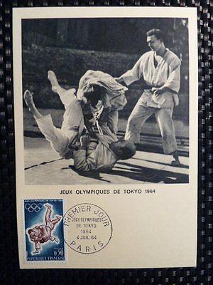 Maximumkarten Gelernt France Mk 1964 Olympia Olympics Judo Maximumkarte Carte Maximum Card Mc Cm A8598