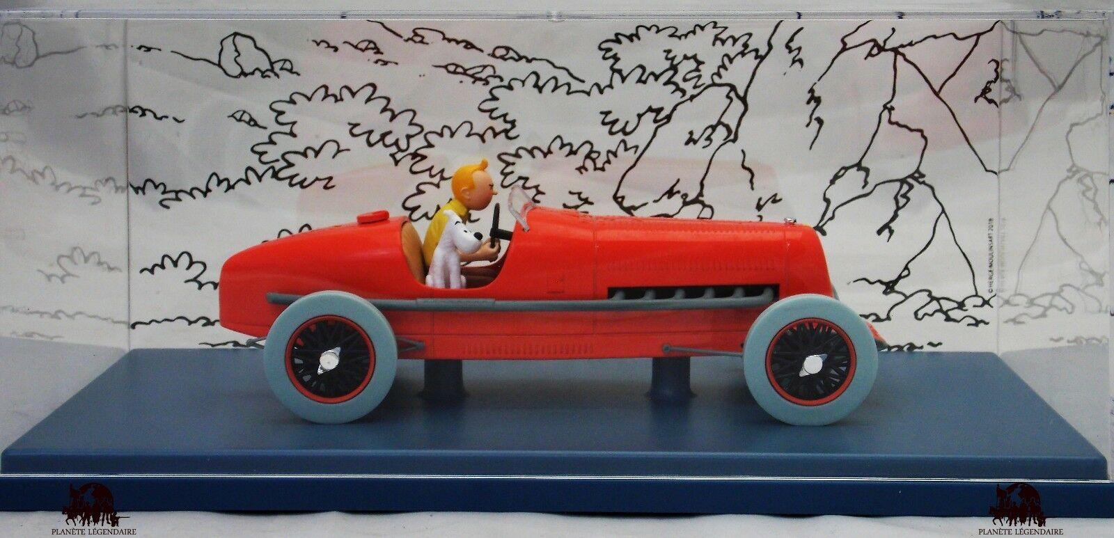 Car Auto Scale 1 24e TINTIN The Race Car Red Amilcar Cigars of Pharaoh Diecast