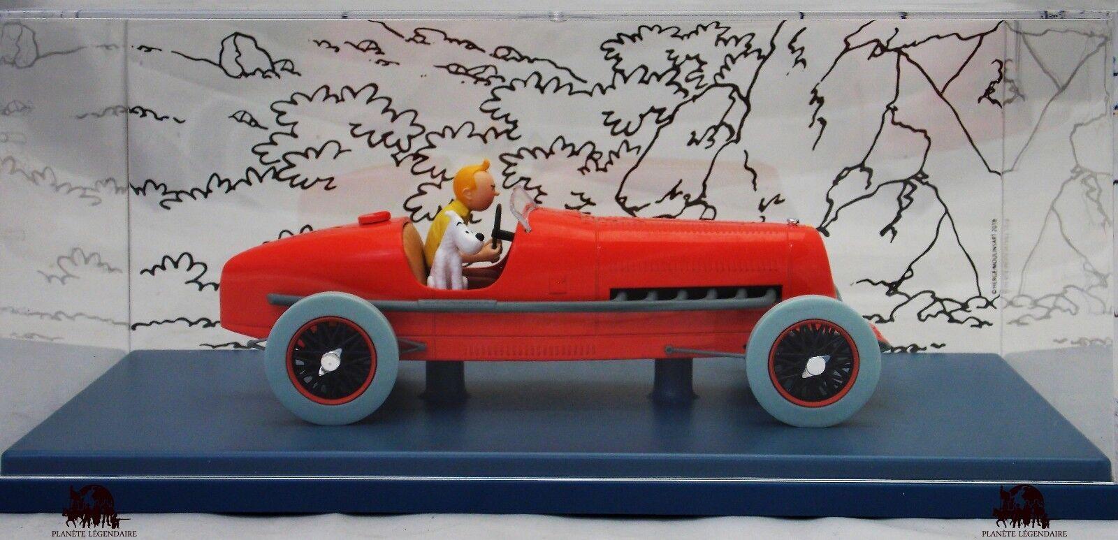 Car Auto Scale 1 24e TINTIN The Race Car Red Amilcar Cigars of Pharaoh Diecast
