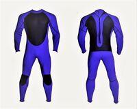 New Blue Black Wetsuit 3mm Smooth Skin Neoprene Full Body Surf Scuba Dive Mens