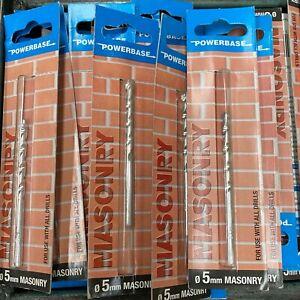 10 Powerbase 5mm x 85mm TCT Punte Per Mattone, Calcestruzzo, Muratura, Beige ECC