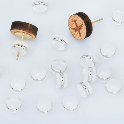 7mm Earring Back Stoppers Silicone Ear Nuts Earring Component Findings 10pcs