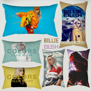 Billie-Eilish-Pillowcase-Home-Decor-Peach-Skin-Pillowcover-Sofa-Cushion-Cover