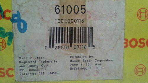 BOSCH 61005 Fuel Pump with Strainer Fits NISSAN 1989-90 Pulsar Sentra 69686