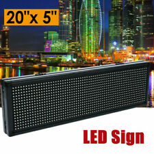 20x5 P8 Full Color Semi Outdoor 14 Duty Cycle Led Sign Programmable 6000cdm