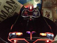 1966 Hot Wheels Elite Batmobile BCJ95 1:18 Lights, Sounds, And Music Adam West