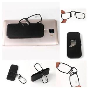 801abee801 Mini Nariz Clip GAFAS DE LECTURA CON FUNDA 1.0 1.5 2.0 2.5 3.0 DC | eBay
