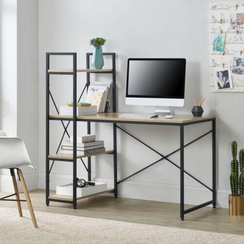 en.casa Schreibtisch Regal Bürotisch Computertisch Arbeitstisch Tisch PC Tisch