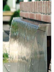 Fontana a cascata su placca in acciaio inox fontane da for Fontane a cascata da giardino