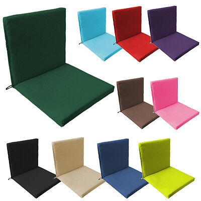 Back & Seat Outdoor Waterproof Chair Pad Cushion Garden Patio Furniture w/ Ties