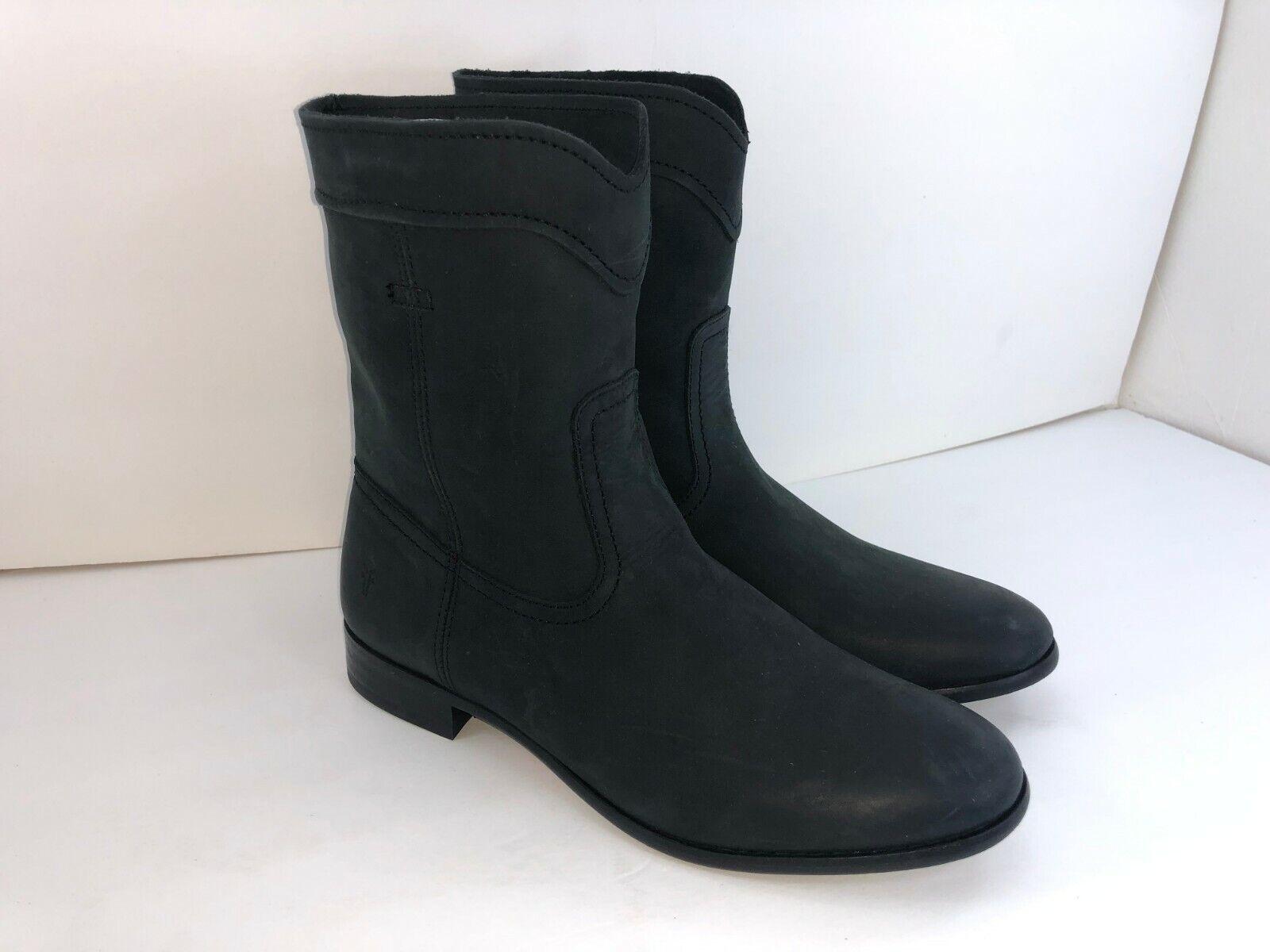 Frye Cara Roper Womens Short Leather Boots Black SIZE 7 NWOB  2