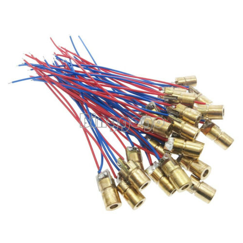 10PCS 5V 5mW Laser Dot Diode Module Head WL Red mini 650nm 6mm