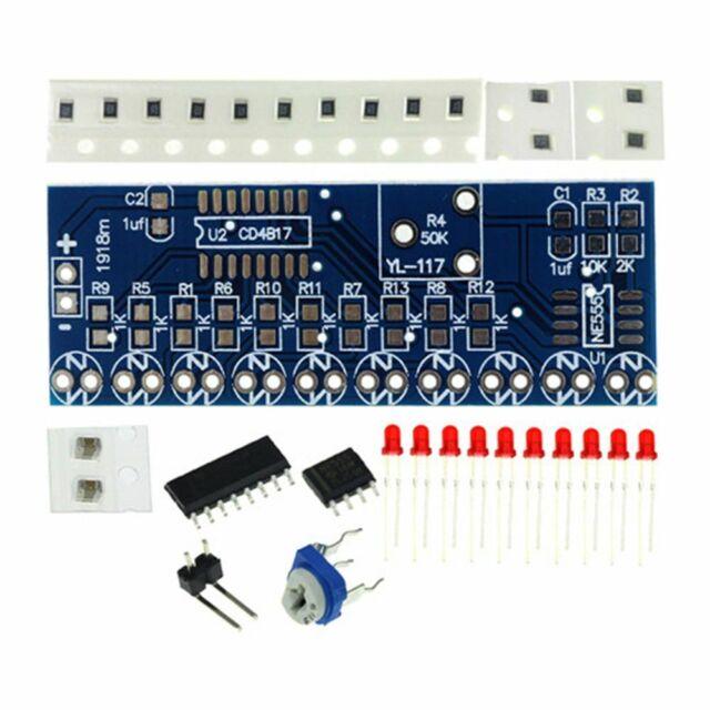 NE555+CD4017 Flowing Light Flow Water Lights Electronic DIY Parts Kit Useful