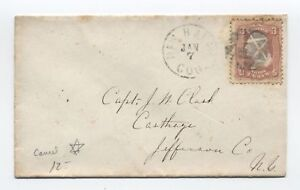 1860s-New-Haven-CT-65-star-of-david-fancy-cancel-cover-y3318