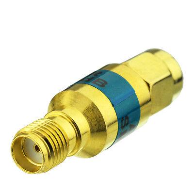Golden 2W SMA JK Male to Female RF Coaxial Attenuator 6GHz 50ohm 10dB Connector