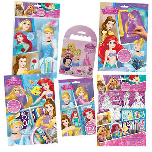 Image Is Loading DISNEY PRINCESS Colouring Activity Sticker Busy Packs Books