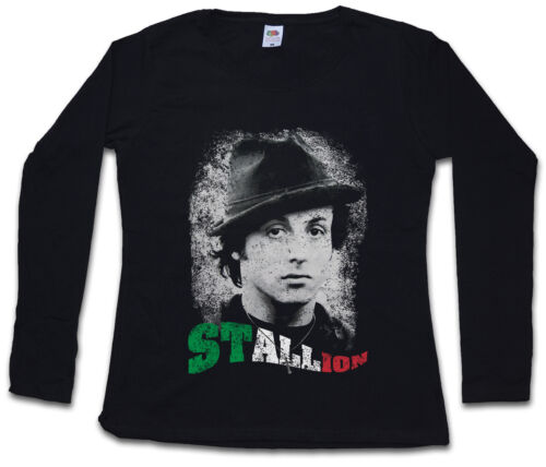STALLION DAMEN LANGARM T-SHIRT Rocky Boxer Boxing Italian Balboa