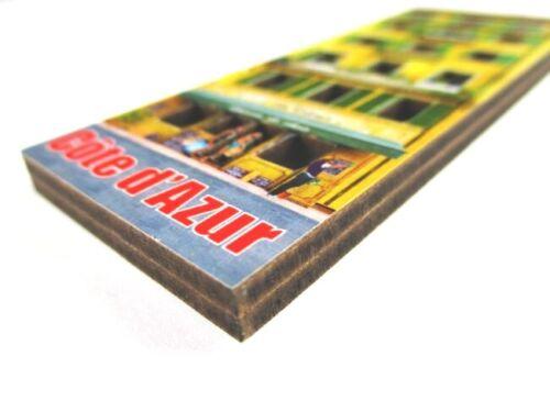 COTE d/'AZUR maison jaune 3 d bois souvenir Deluxe magnétique France France NEUF