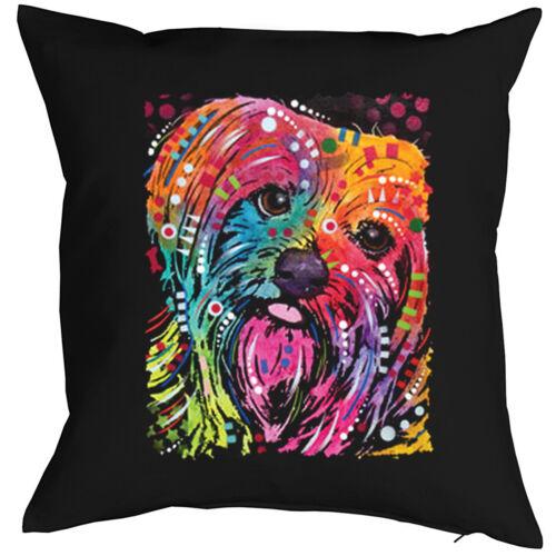 Yorkshire terrier almohada-gracioso perros motivo almohada perros Tinker neón