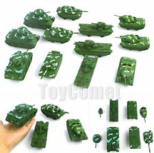 12 pcs Military Tank Models (4 Different Types) Toy Soldier Army Men Accessories