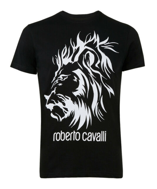 ae4d5ba4 Roberto Cavalli Black Pure Cotton Lion T-shirt Size M for sale ...