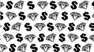 DIAMONDS /& DOLLARS VINYL PAINTING STENCIL FOR SHOES /& SMALL OBJECTS